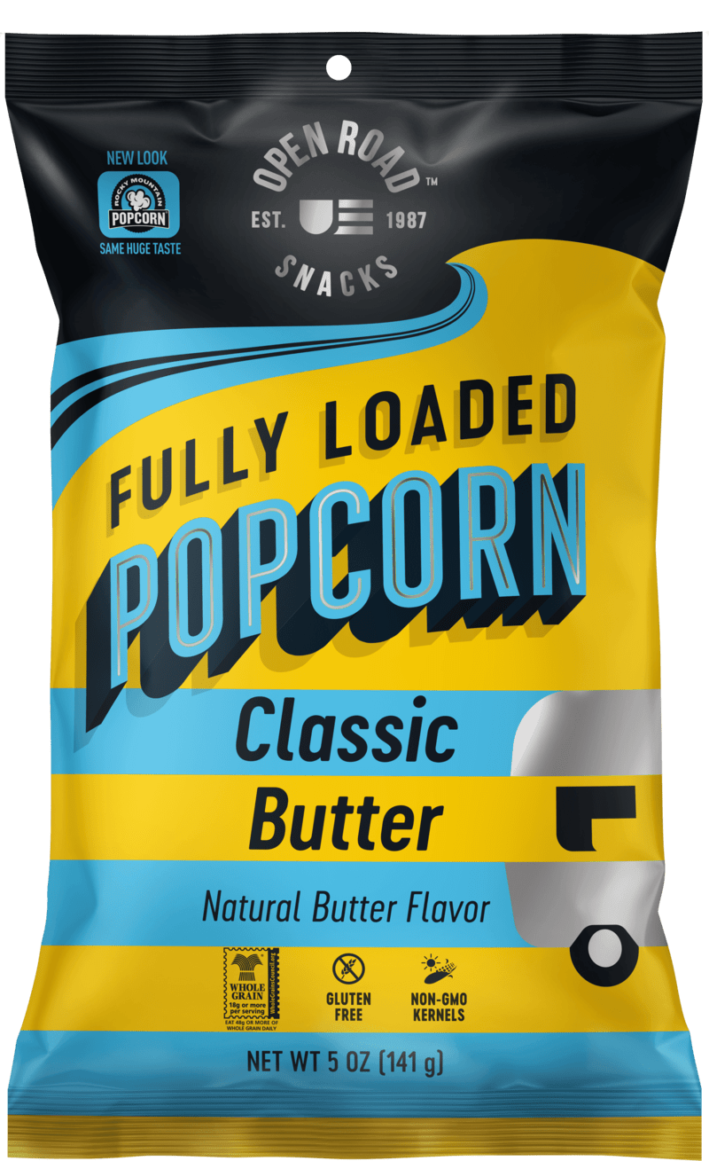 Classic Butter popcorn front of package